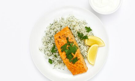 Lemon-Saffron Salmon With Dill Rice Recipe